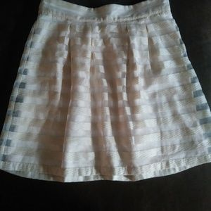 Ann Taylor Semi Sheer Round Pleated skirt - Size 8